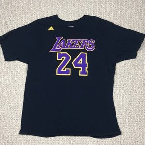 Adidas Kobe Bryant Lakers black t shirt size XL